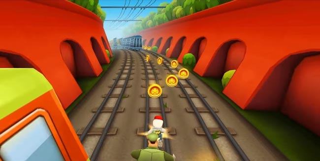 Subway Surfers, jogo Android grátis.