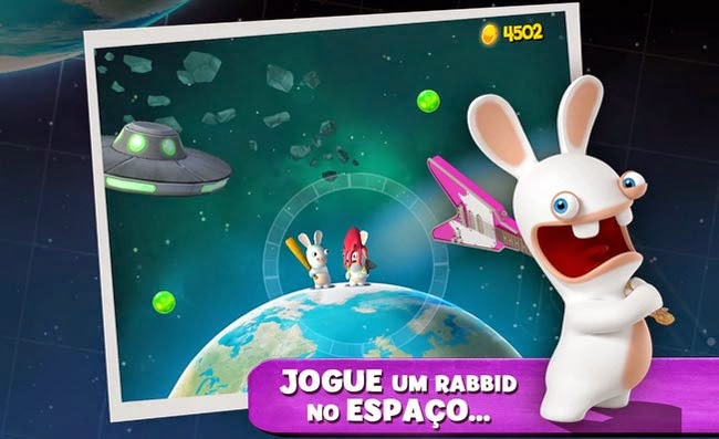 Jogo Android Rabbids Big Bang.
