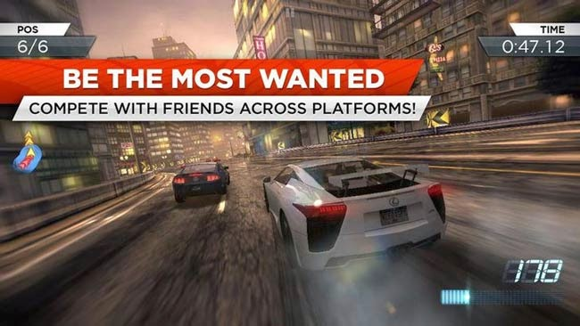 Melhor jogo Android de corrida Need for Speed Most Wanted.
