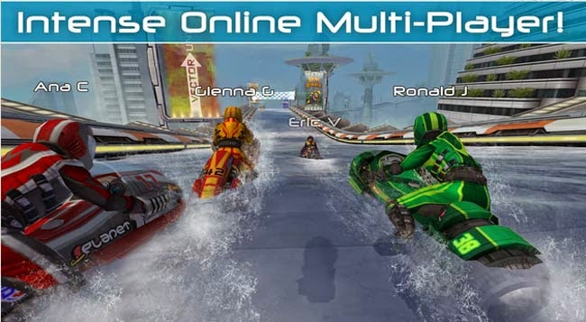 jogo multiplayer para Android Riptide GP2.