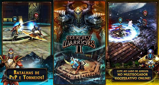 Jogo multiplayer para Android Eternity Warriors 2