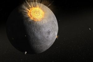 Gigantesca esplosione sulla luna