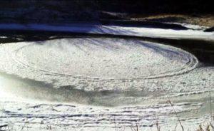 North Dakota: scoperto un cerchio nel ghiaccio