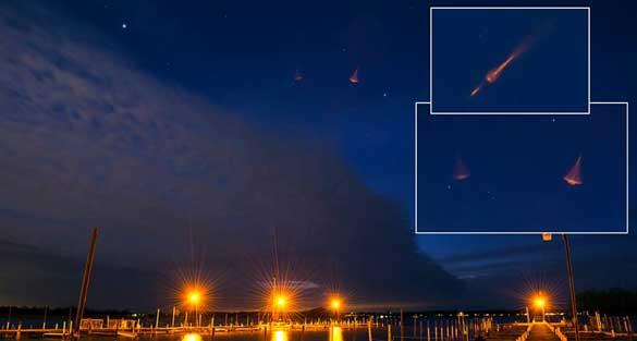 Fotografati strani oggetti nel cielo di Rochester