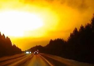 Misterioso lampo di luce in Russia