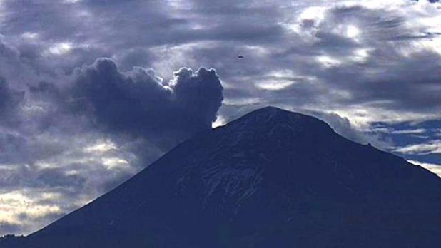 Nuovo avvistamento sopra il vulcano Popocatepetl
