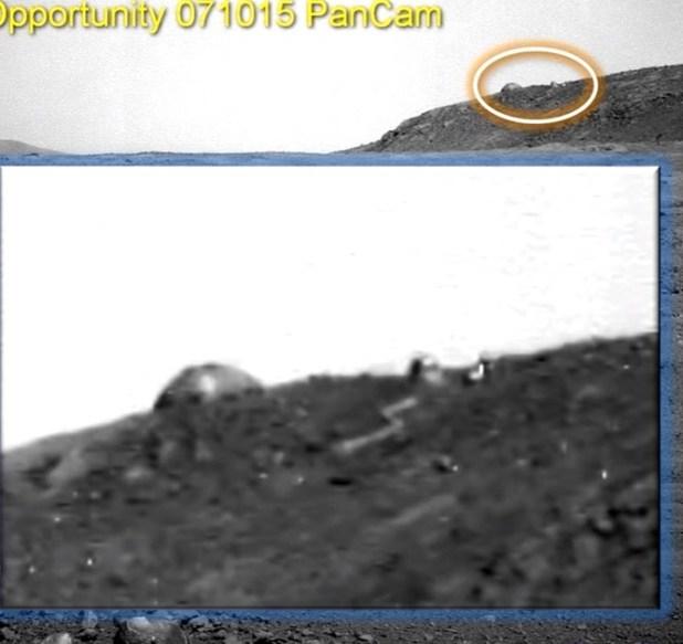 Il rover Opportunity fotografa una cupola su Marte