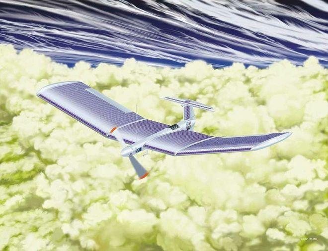 La rappresentazione dell'idea di un aereo a energia solare venusiano di Landis. Immagine: NASA