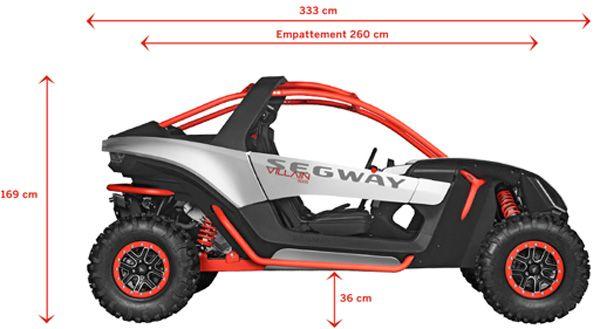 Segway - Villain SX10 -  Dimensions