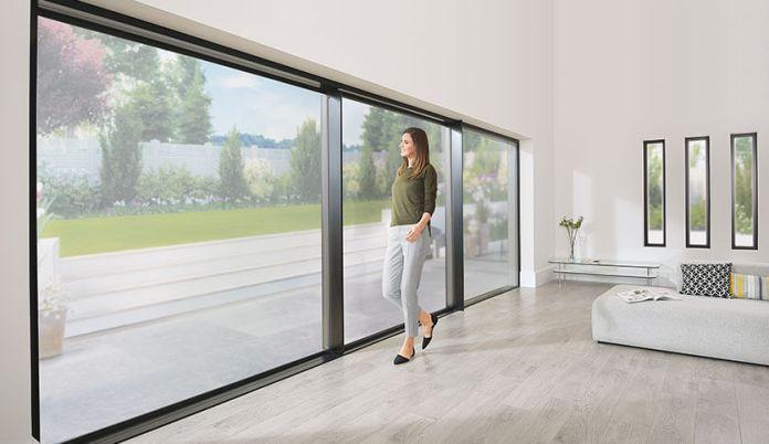 Wide span aluminium sliding patio doors