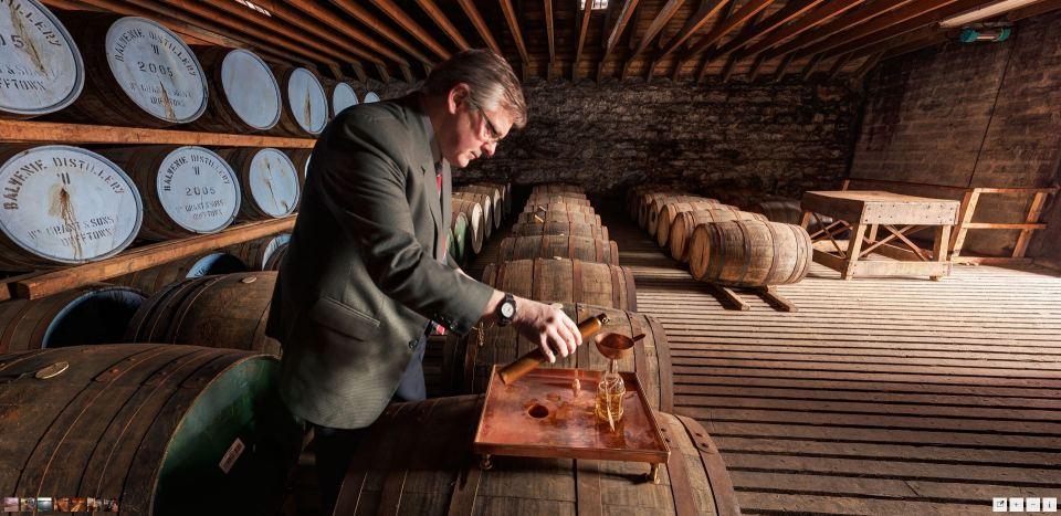 Screenshot of virtual tours to the Belvenie Distillery