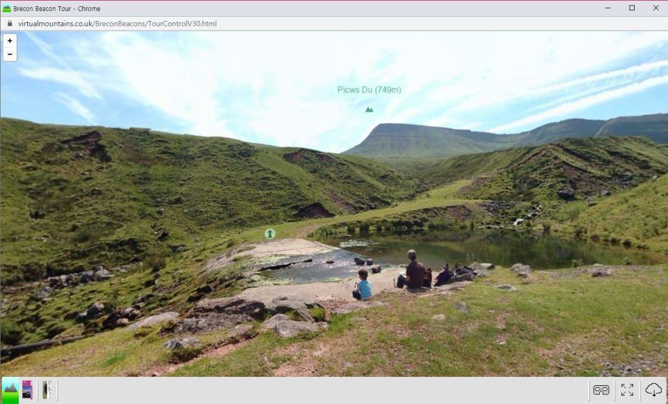 Brecon Beacons National Park virtual tour route screenshot