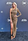 CAROLE BASKIN - IS IT YOU ?: Giuliana Rancic went for an animalistic expression on the gray carpet.  Photo: Rob Latour / Shutterstock / NTB