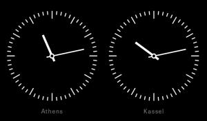 Zeitunterschied zwischen Athen und Kassel