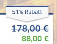 Screenshot des Angebots von der Website des Vermittlers