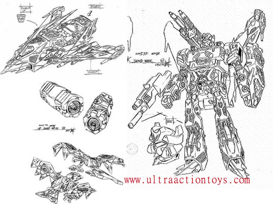 Transformers Galaxy Force GX-02 Soundwave and Galaxy Force