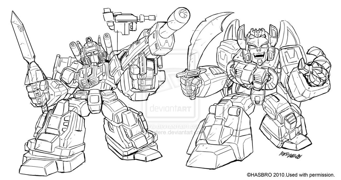 Unreleased Inked Art for Robot Heroes Star Saber and
