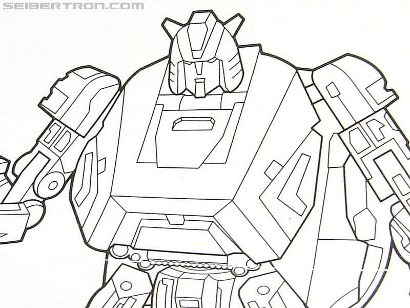 War for Cybertron CLIFFJUMPER line-art used in Bumblebee's