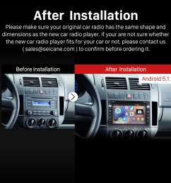 2004 2009 vw volkswagen golf stereo pure sound system after installation [ 1500 x 1500 Pixel ]