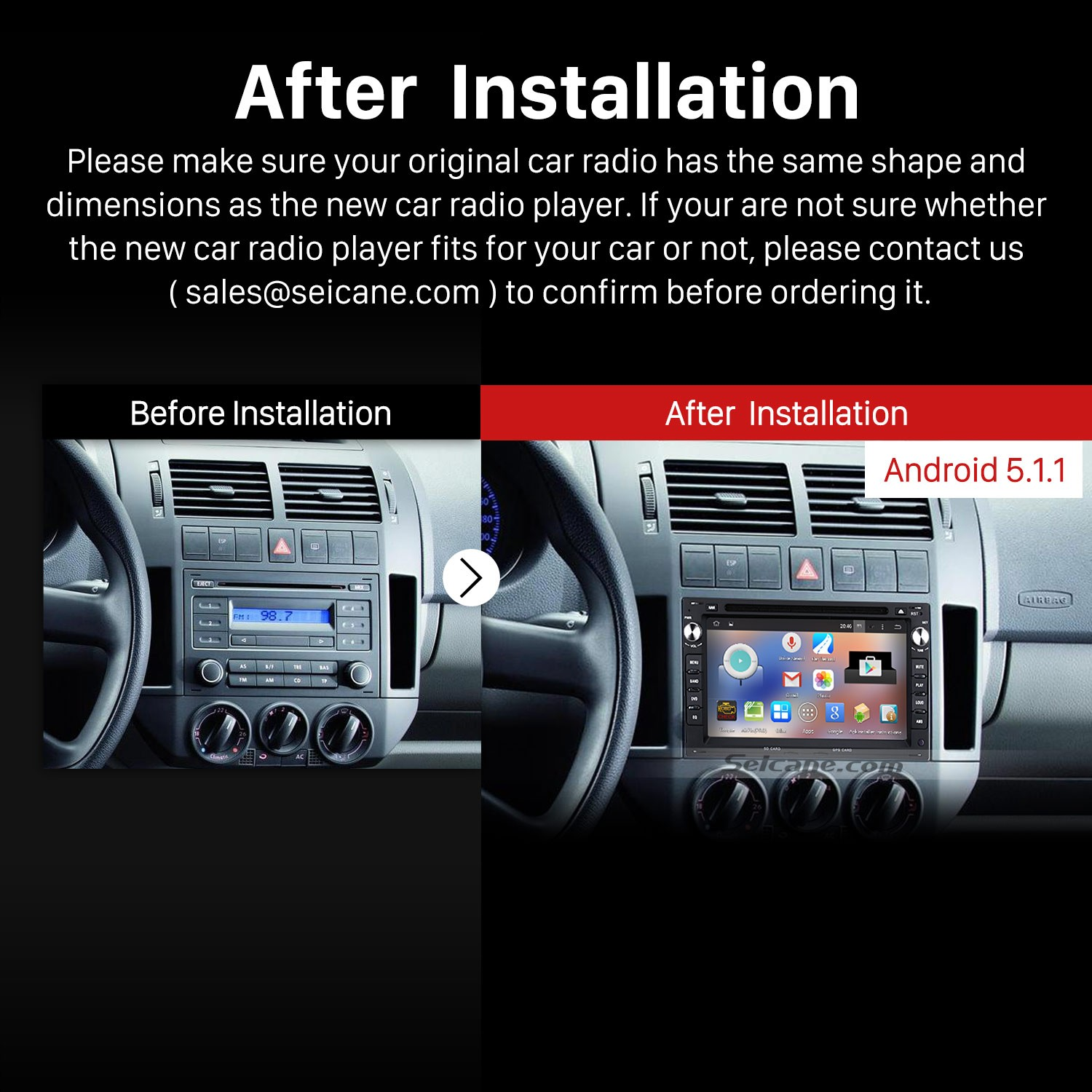 hight resolution of 2004 2009 vw volkswagen golf stereo pure sound system after installation