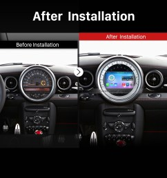 2006 2013 bmw mini cooper gps bluetooth car stereo after installation [ 1500 x 1500 Pixel ]