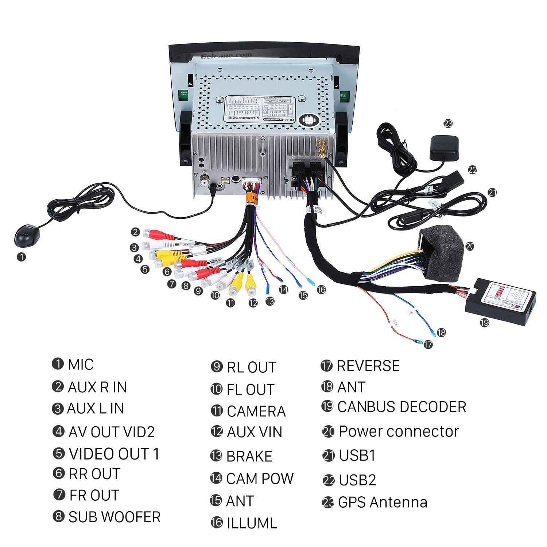 hight resolution of 2000 2001 2002 2003 2004 2011 mercedes benz slk class slk200 slk280 slk350 2006 stereo wiring harness adapter
