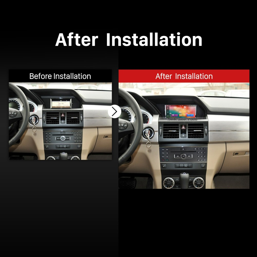 medium resolution of 2008 2009 2010 2011 2012 2014 mercedes benz glk x204 gps bluetooth car radio after