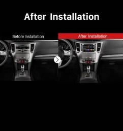 2009 2010 2011 2012 2013 subaru outback gps car radio after installation [ 1500 x 1500 Pixel ]