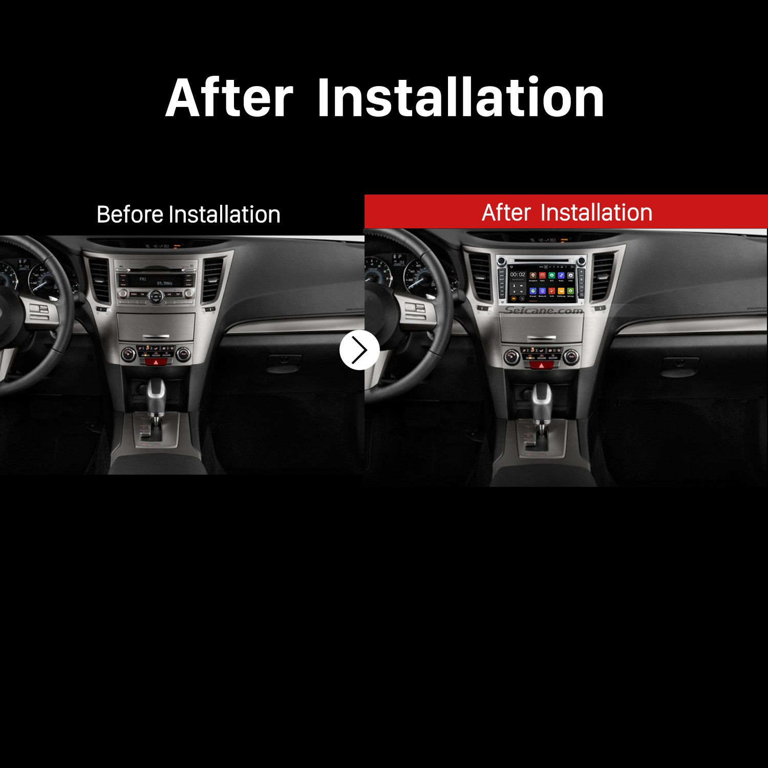 hight resolution of 2009 2010 2011 2012 2013 subaru outback gps car radio after installation