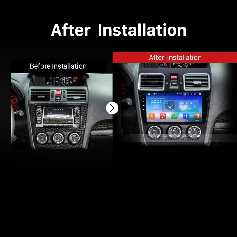 medium resolution of 2014 2015 2016 subaru forester car radio after installation