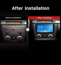 2004 2005 2006 2007 2009 mazda 3 radio after installation [ 1500 x 1500 Pixel ]