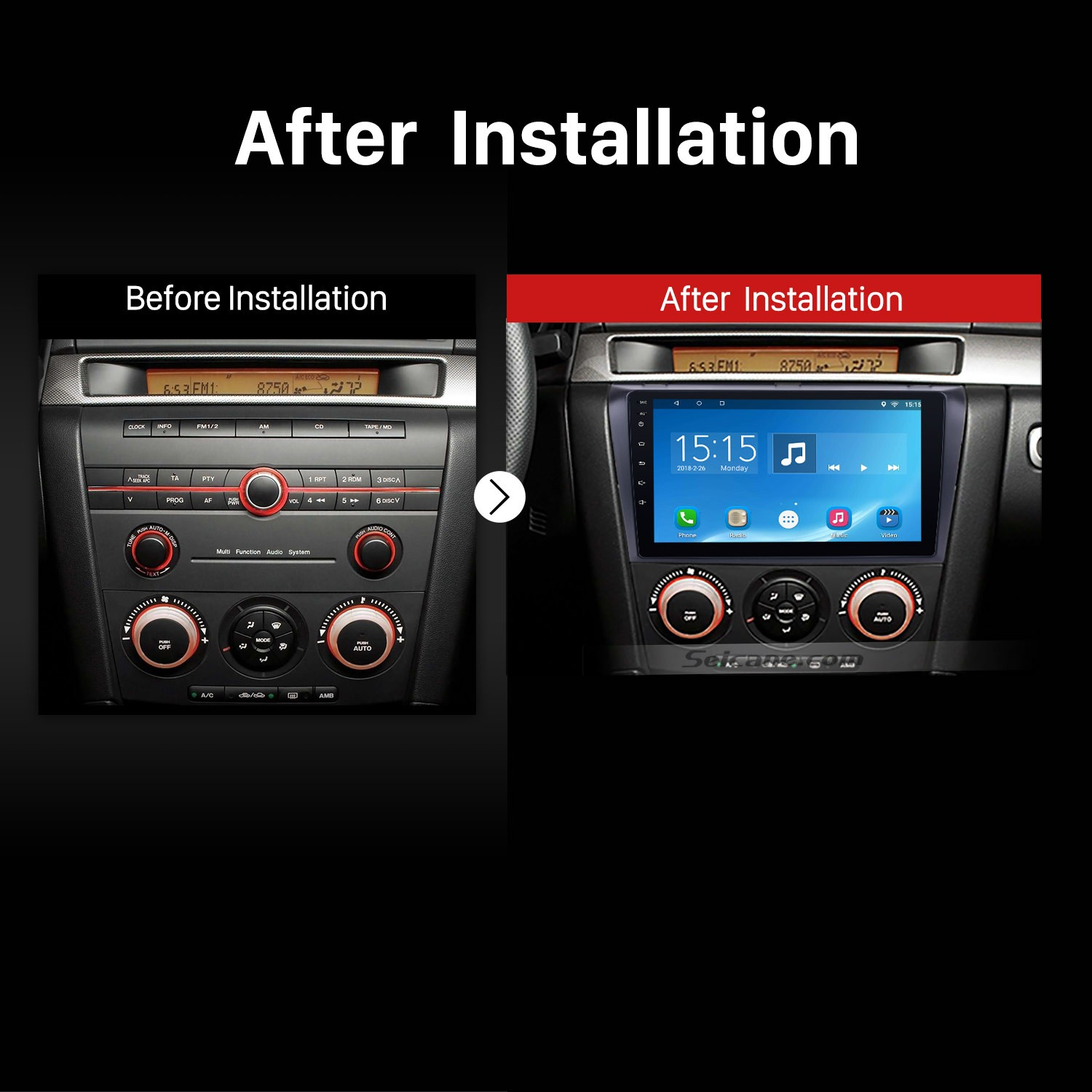 hight resolution of 2004 2005 2006 2007 2009 mazda 3 radio after installation