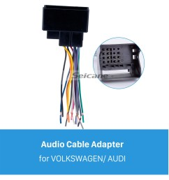 audio cable car stereo wiring harness plug adapter for volkswagen audi passat sagitar candy magotan bmw ford  [ 1500 x 1500 Pixel ]