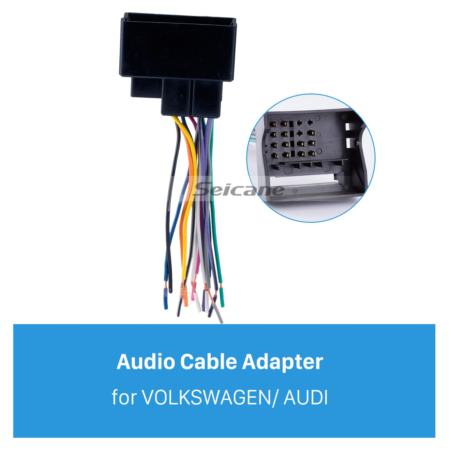 hight resolution of audio cable car stereo wiring harness plug adapter for volkswagen audi passat sagitar candy magotan bmw ford