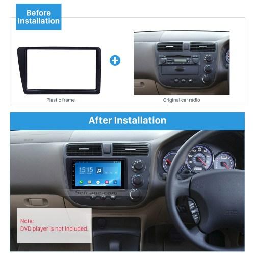 small resolution of excellent black 2din 2001 2005 honda civic rhd car radio fascia installation trim dash kit dvd