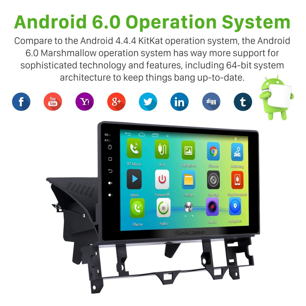 medium resolution of 10 1 inch hd touch screen android 6 0 radio for 2003 2008 old mazda 6 with gps