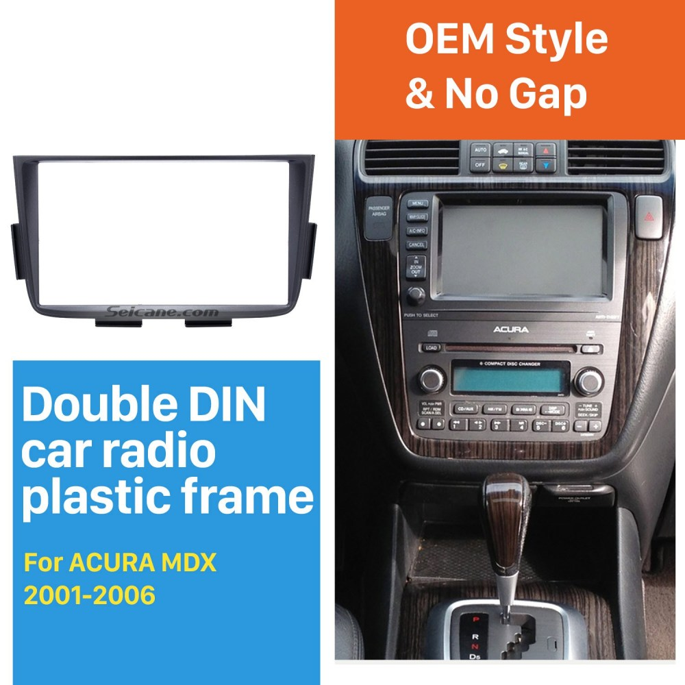 medium resolution of black double din car radio fascia for 2001 2002 2003 2004 2006 acurablack double din car radio fascia for 2001 2002 2003 2004 2006 acura mdx stereo dash cd