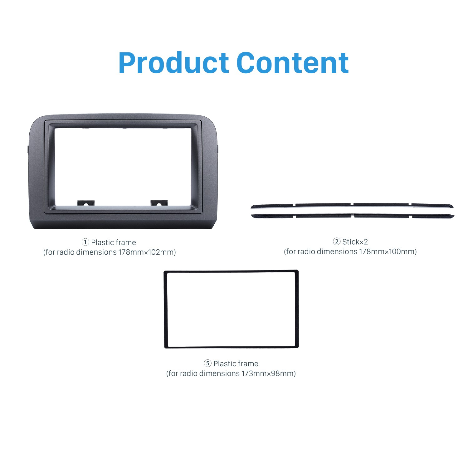 hight resolution of grey double din car radio fascia for 2005 fiat croma stereo dash cd frame panel trim installation kit