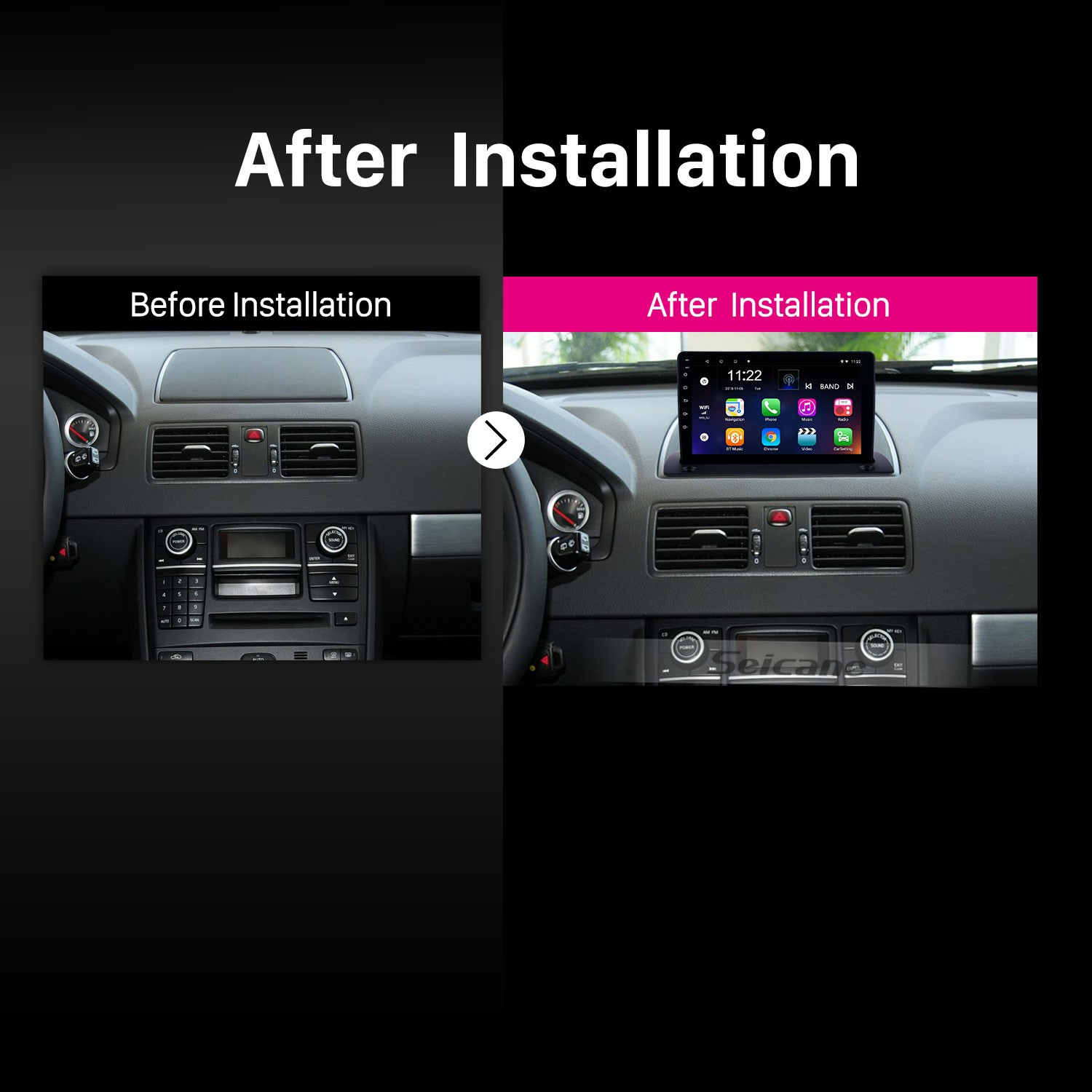 hight resolution of 2004 2014 volvo xc90 android 8 1 9 inch hd touchscreen radio gps navigation bluetooth mp4 mp5