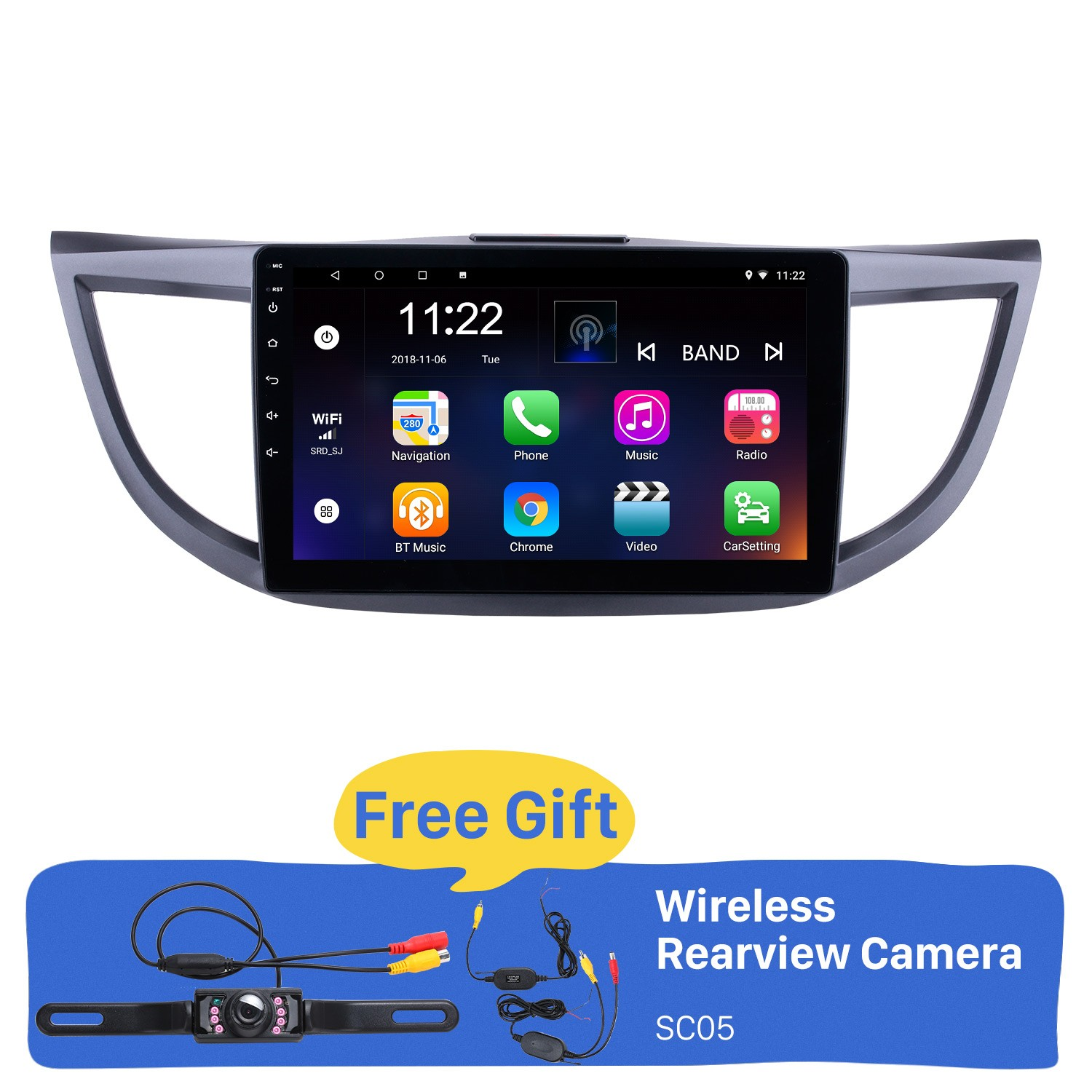 hight resolution of android 8 1 10 1 inch 2011 2015 honda crv hd 1024 600 touchscreen radio gps navigation