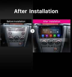 all in one android 9 0 2004 2009 mazda 3 radio upgrade with in dash gps navigation  [ 1500 x 1500 Pixel ]