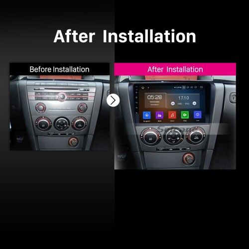 small resolution of all in one android 9 0 2004 2009 mazda 3 radio upgrade with in dash gps navigation
