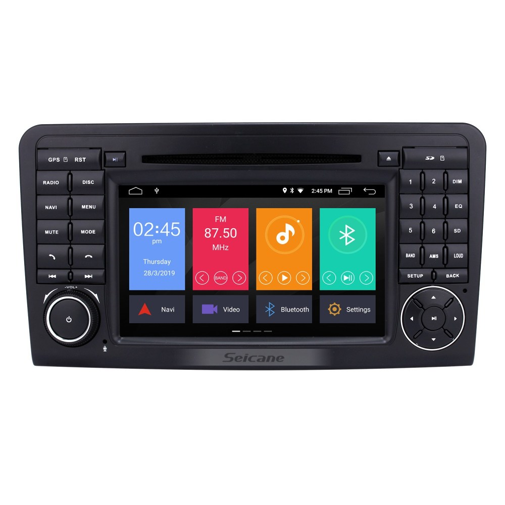 medium resolution of android 9 0 gps navigation car radio dvd player for 2005 2012 mercedes benz ml class