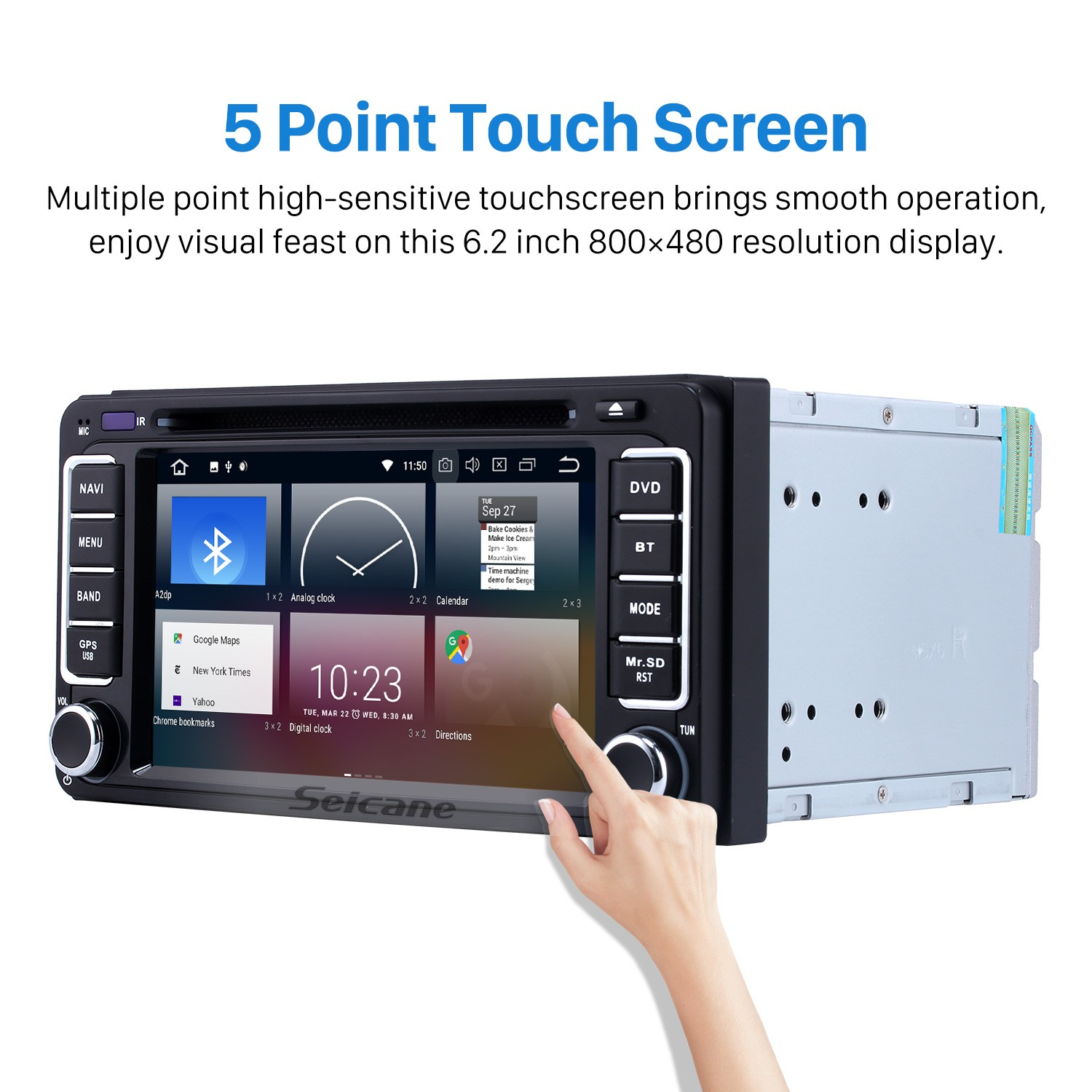 hight resolution of seicane s12746 quad core android 4 4 4 gps dvd car audio system for 1998
