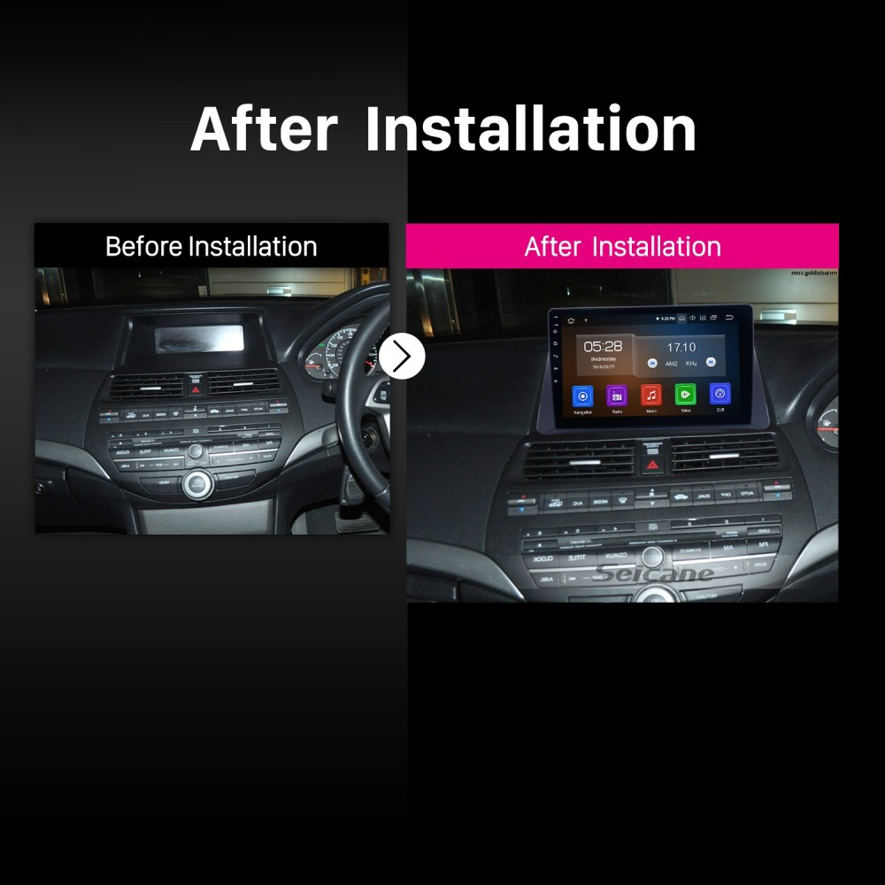medium resolution of  10 1 inch hd touch screen android 9 0 car stereo radio for 2008 2012 honda accord