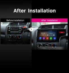 aftermarket hd touch screen 2014 2015 2016 honda fit rhd android 9 0 radio replacement with gps [ 1500 x 1500 Pixel ]