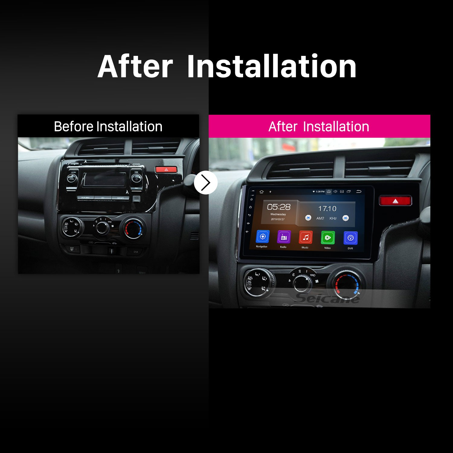 hight resolution of  aftermarket hd touch screen 2014 2015 2016 honda fit rhd android 9 0 radio replacement with gps