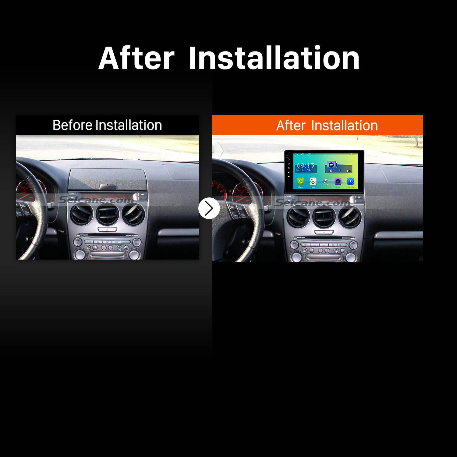 hight resolution of 10 1 inch hd touch screen android 6 0 radio for 2003 2008 old mazda 6 with gps