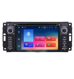 oem 2007 2008 2009 2010 jeep wrangler unlimited android 9 0 radio gps navi dvd player stereo upgrade with bluetooth wifi 1080p video usb sd mirror link  [ 1500 x 1500 Pixel ]