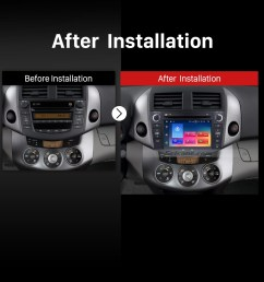 android 9 0 aftermarket radio for 2006 2012 toyota rav4 with gps navigation hd 1024  [ 1500 x 1500 Pixel ]
